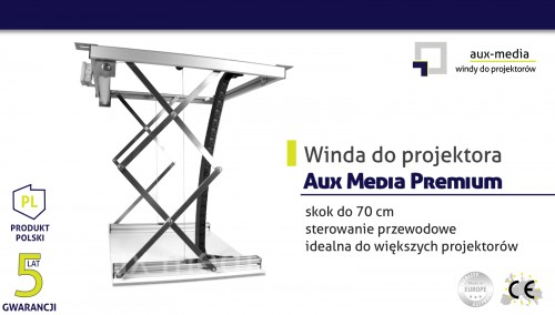 Winda do projektora Aux Media Premium