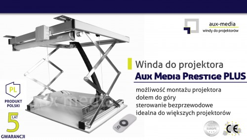 Winda do projektora Aux Media Prestige PLUS