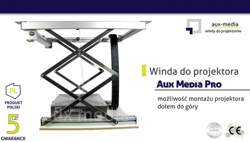 Winda do projektora Aux Media - Pro